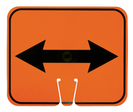 SAFETY CONE SIGNS, DOUBLE ARROW, 10.375 X 12.625