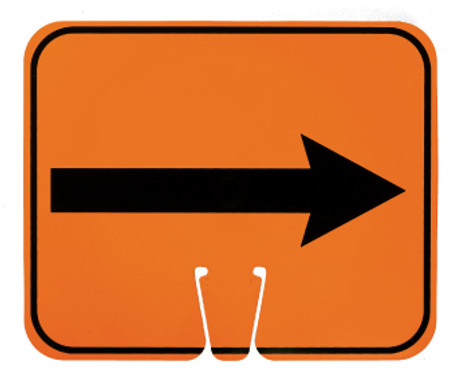SAFETY CONE SIGNS, RIGHT ARROW, 10.375 X 12.625