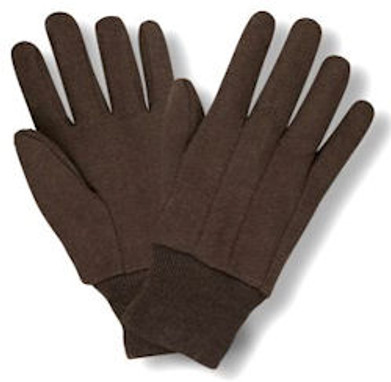 Brown Jersey Gloves - 12/PR