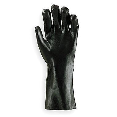 """PVC Rough Coated Black 12"""" Glove-Dozen"""