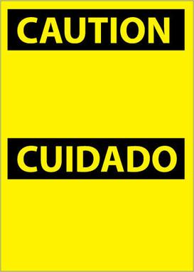 CAUTION, (HEADER ONLY) (BILINGUAL), 14X10, PS VINYL