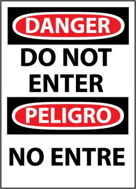 DANGER, DO NOT ENTER BILINGUAL, 14X10, .040 ALUM