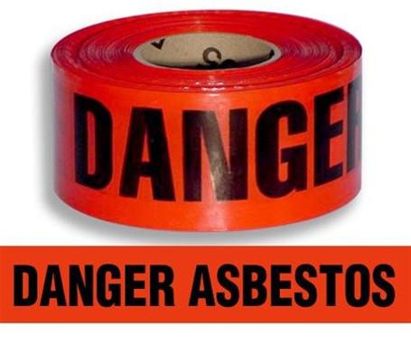 Danger Asbestos Barrier Tape