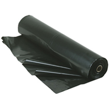 4 Mil 20'x100' Black Plastic Poly Sheeting & Construction Film