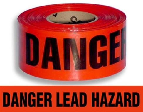 Danger Lead Barrier Tape