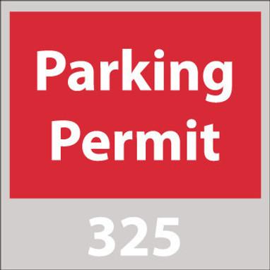PARKING PERMIT, WINDSHIELD, RED, 301-400