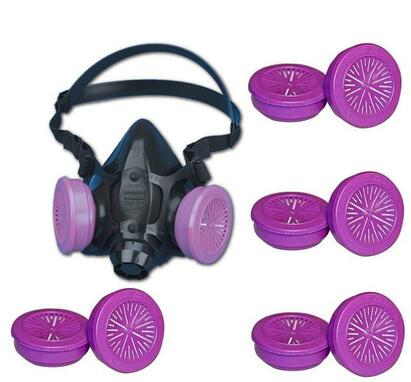 Honeywell North 5500 Half-Mask+4pr North 7580 P100 Filters (S, M, L)