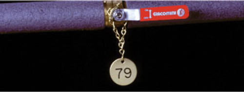 VALVE TAGS, NUMBERED 126-150, .040 BRASS