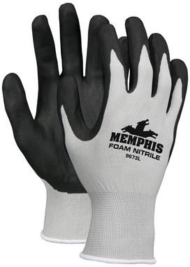 Memphis 9673 Economy Foam Nitrile Glove-Dozen