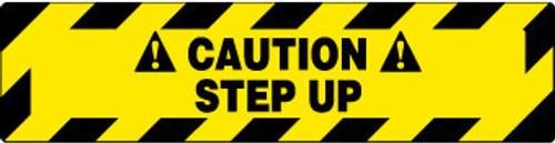 FLOOR SIGN, WALK ON, CAUTION STEP UP, 6X24