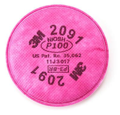 3M 2091 Particulate P100 Filter - Pair
