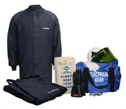 NSA ArcGuard® 20 cal/cm² Arc Flash Kit UltraSoft® Short Coat & Bib Overalls