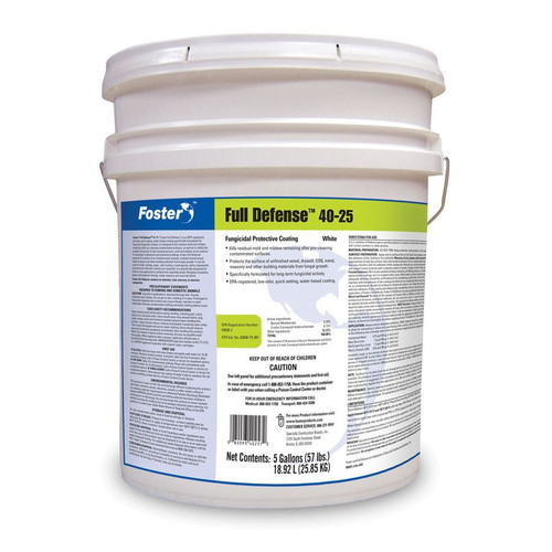 Foster 40-25 Full Defense Fungicidal Mold Resistant Coating - White - 5 Gallon
