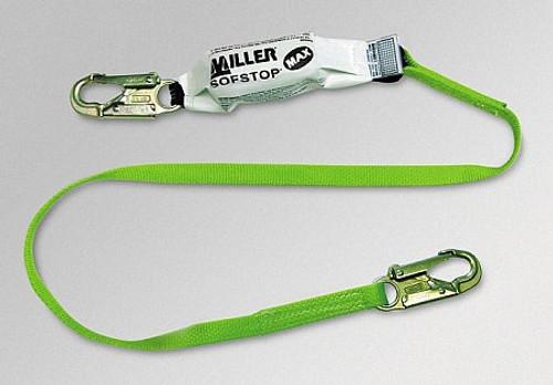 Miller 6 ft. Lanyard w/ Double SofStop Shock Absorbers - 2 Locking Snap Hooks - 940WLS-Z7/6FTGN