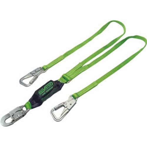 Miller 6 ft. Double Leg Lanyard w/ 3 Locking Snap Hooks - 8798-Z7/6FTYL