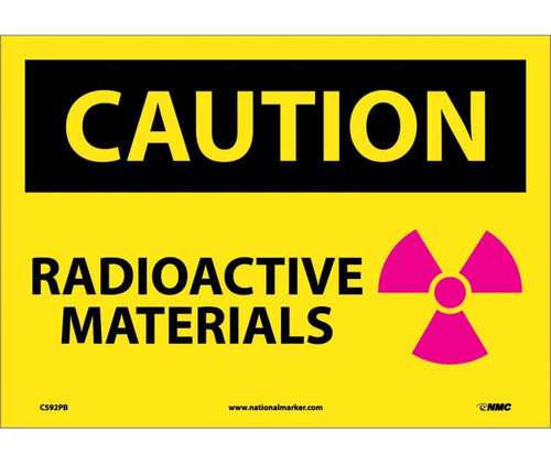 Caution Radioactive Materials Graphic 10X14 Ps Vinyl