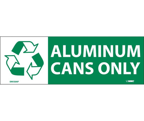 (Graphic) Aluminum Cans Only 7.5X2.5 Ps Vinyl 5/Pk