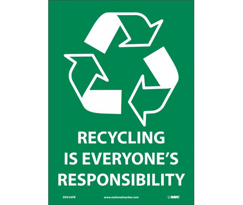 (Graphic)Recycling Is Everyone'S Responsibility 14X10 Ps Vinyl