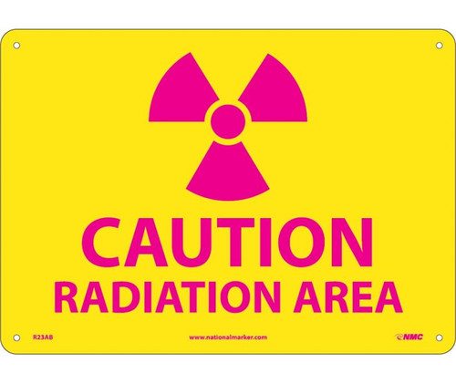 (Graphic) Caution Radiation Area 10X14 .040 Alum