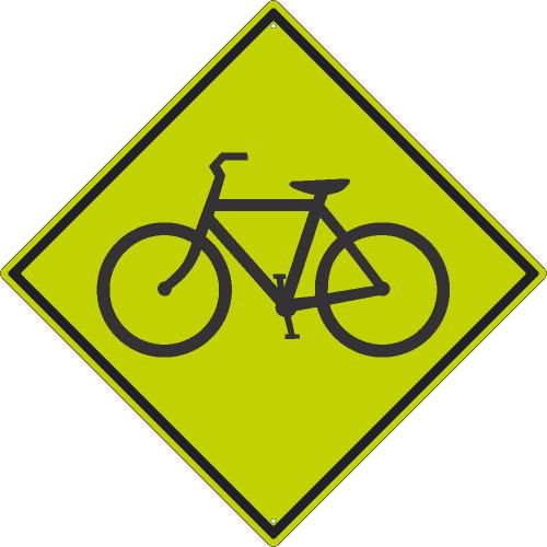 (Graphic Bike)Sign 30X30 .080 Dg Ref Alum