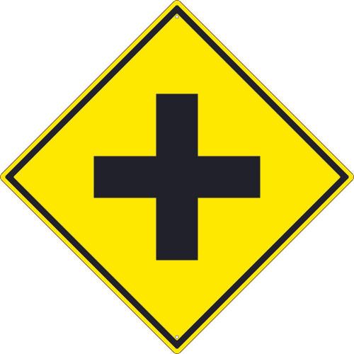 (Crossroad Graphic )Sign 30X30 .080 Hip Ref Alum
