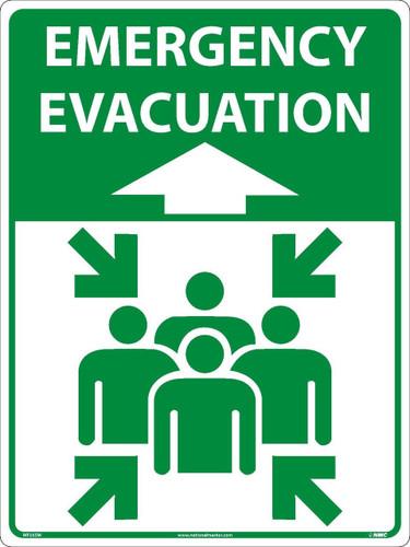 Emergency Evacuation Large Floor And Wall Sign 24X18 Sportwalk