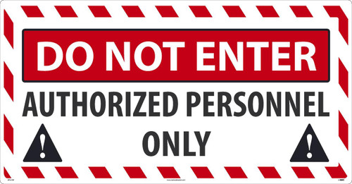 Do Not Enter Large Floor Sign 24X46 Sportwalk