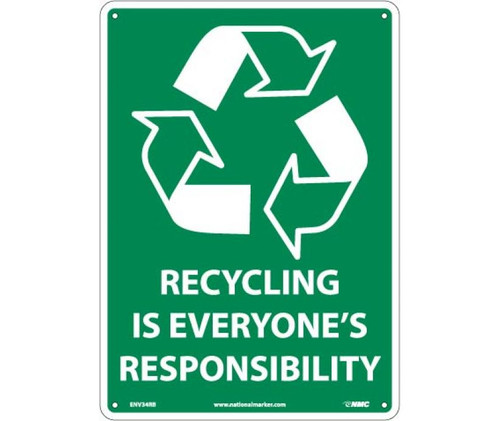 (Graphic)Recycling Is Everyone'S Responsibility 14X10 Rigid Plastic