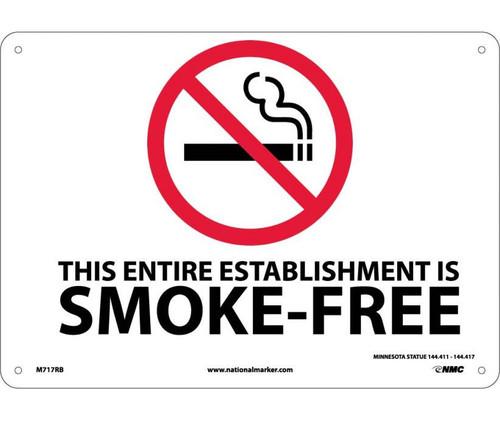 (Graphic) This Entire Establishment Is Smoke-Free Minnesota Statue 144.411-144.417 10X14 Rigid Plastic