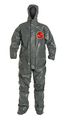 DuPont Tychem® 6000 FR Gray Coverall - TP199T GY BOOT