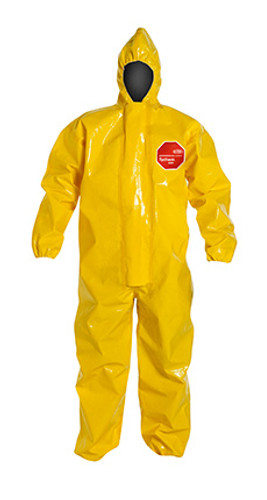 DuPont Tychem® 9000 Yellow Coverall - BR127T YL BN
