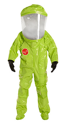 DuPont Tychem® 10000 Lime Yellow Coverall - TK554T LY 7S