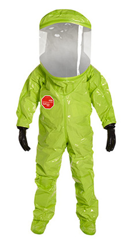 DuPont Tychem® 10000 Lime Yellow Coverall - TK555T LY 5V