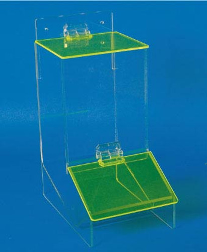 ACRYLIC, MISC DISPENSER WITH COVER