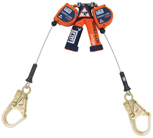 3M DBI - SALA 8 ft Nano - Lok edge Twin - Leg Quick Connect Self Retracting Lifeline - Cable - 3500246