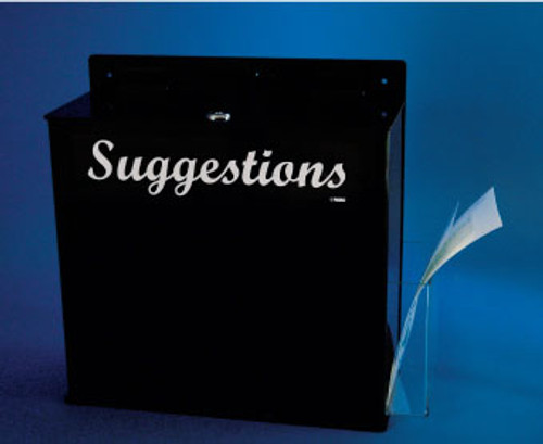 ACRYLIC SUGGESTIONS BOX