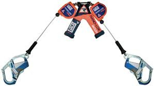 3M DBI-SALA 3500257 Twin Leg 7.3 ft Nano-Lok Edge Self Retracting Lifeline - Cable