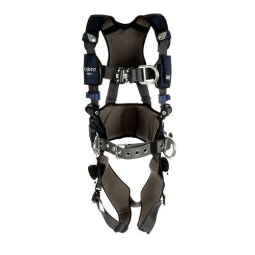 3M DBI-SALA ExoFit NEX Plus Comfort Construction Style Positioning/Climbing Harness 1140165 - Large - Gray