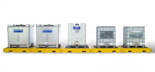 UltraTech Modular IBC Spill Pallet:  5 -Tank - Indoor Model - 1128