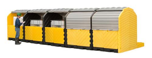 UltraTech Modular IBC Spill Pallet:  5 -Tank - Outdoor Model - 1168