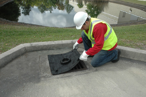 UltraTech Inlet Guard Plus - 2'x4' grate only model - with overflow port - Sediment Model - 9162