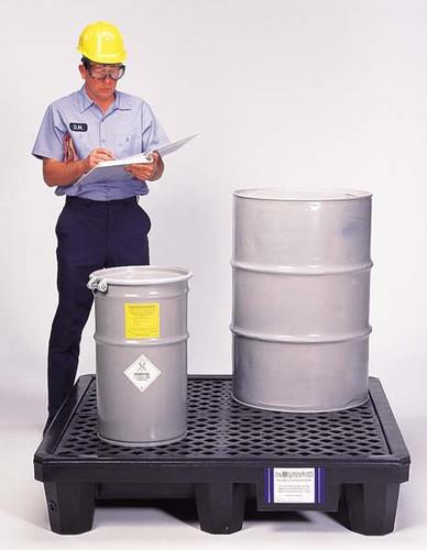 UltraTech Spill Pallet P2 - Economy Model - No Drain - Black - 2504