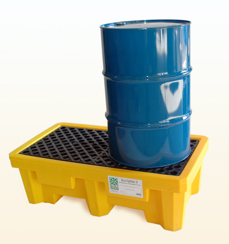 UltraTech Spill Pallet P2 - With Drain - Yellow - 1011