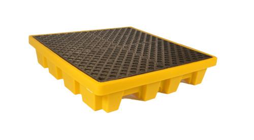 UltraTech Spill Pallet P4 - Nestable Model - No Drain - Yellow - 1230