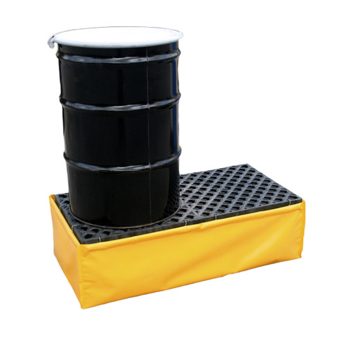 UltraTech Spill Pallet P2 - Flexible Model - With Drain - Yellow - 1345