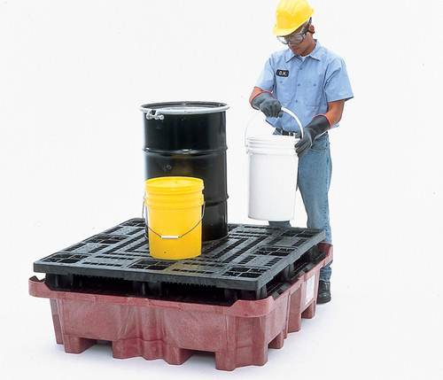 UltraTech Spill King With Flat Deck Pallet - With Drain - 0803