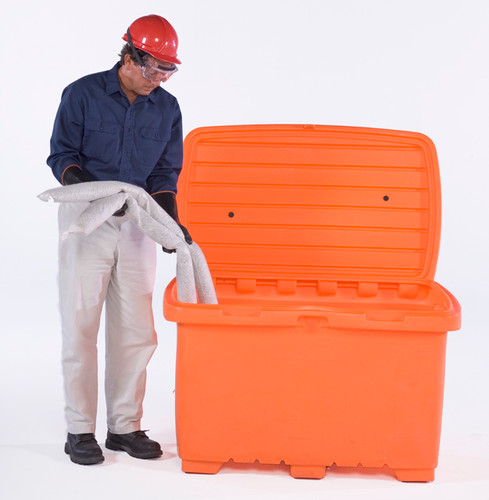 UltraTech Utility Box - 15 cubic foot capacity -  no wheels - Safety Orange - 0861