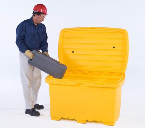 UltraTech Utility Box - 15 cubic foot capacity -  no wheels - Yellow - 0862