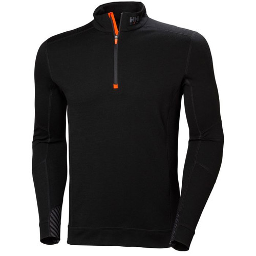 Helly Hansen Lifa Half Zip - 75109 - Black  XS-2XL