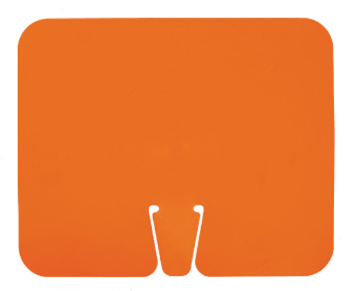 SAFETY CONE SIGNS, BLANK ORANGE, 10.375 X 12.625